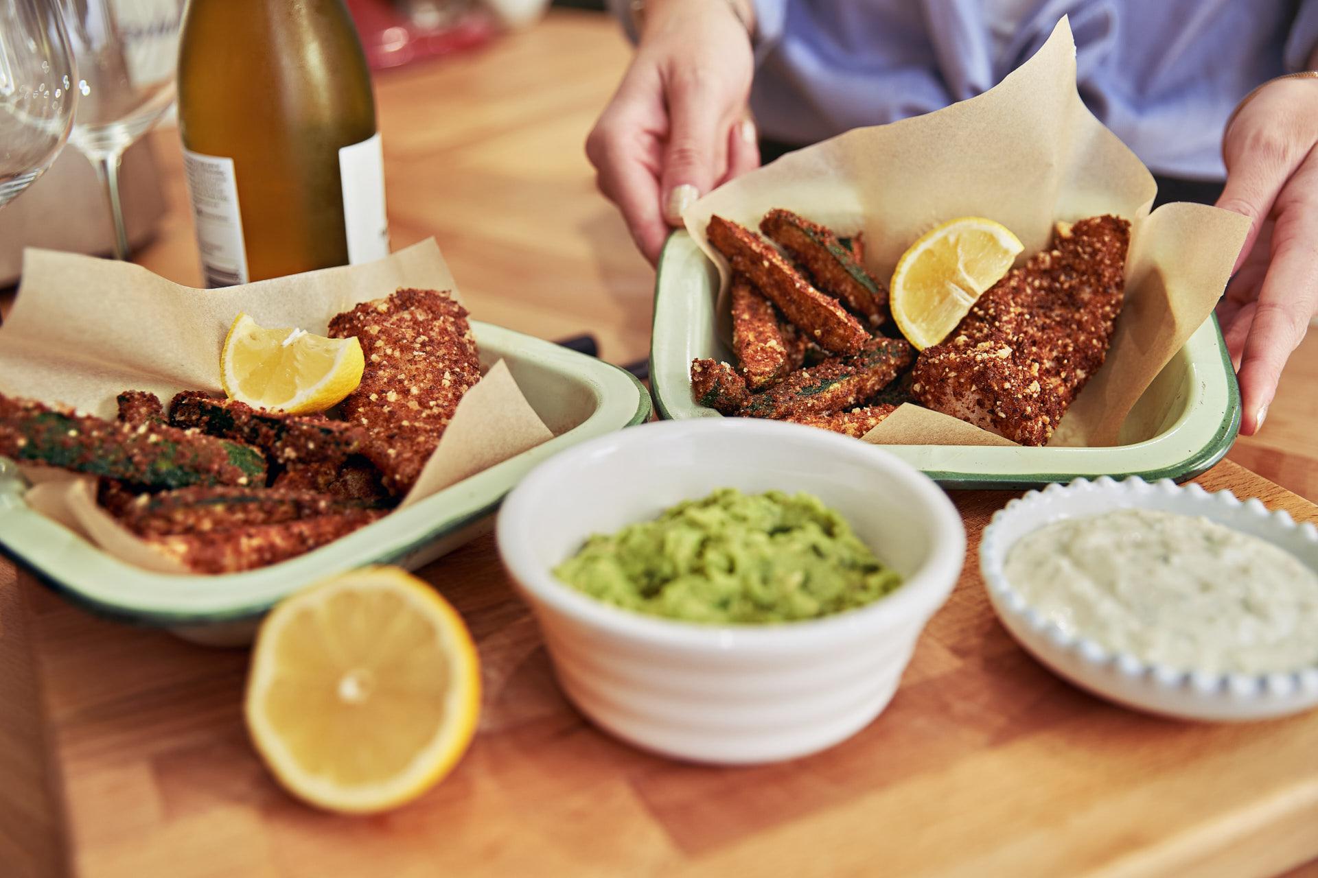 Breaded fish midweek meal