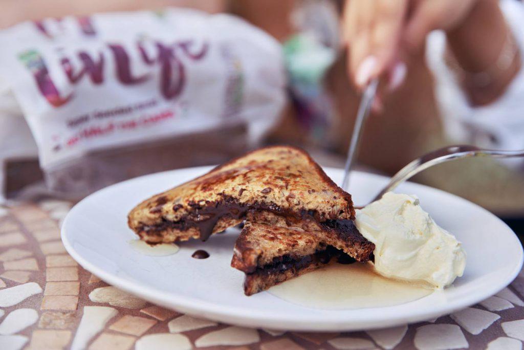 Sandwich and icecream